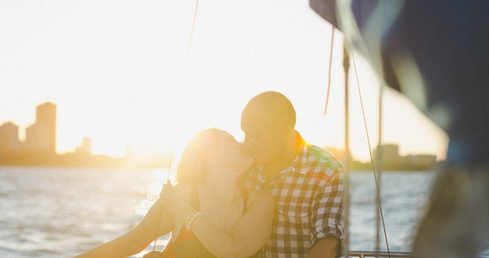 Matt & Katie's Engagement | Chicago Sailboat Engagement