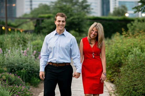 Annie & Greg Engagement | Lurie Gardens | Chicago Engagement