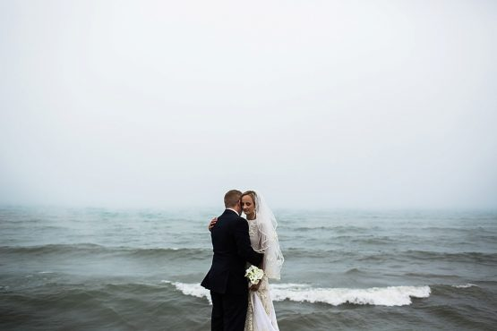 Carrie & John Sneak Peek | Lakeside Inn | Grand Beach, Michigan