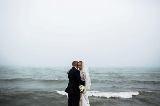 Carrie & John Sneak Peek | Lakeside Inn | Grand Beach, Michigan