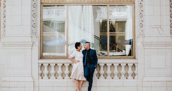 Angela & Orazio Engagement | Intercontinental Hotel Chicago | Michigan Avenue