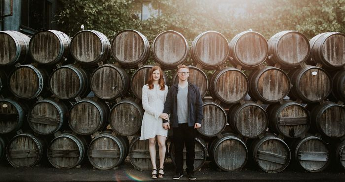 Lauryn + James | Scribe Winery Engagement | Napa & Sonoma