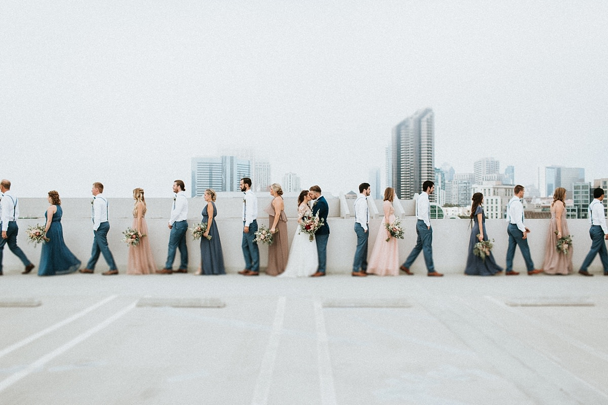 San Diego bridal party photo ideas