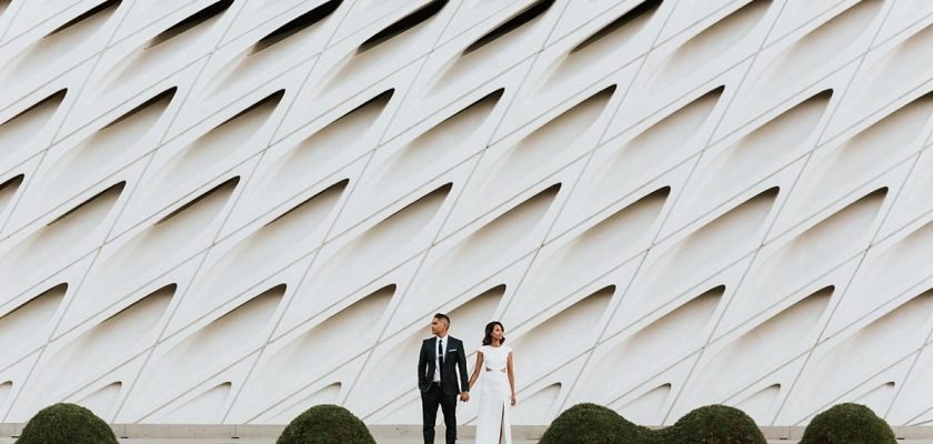 Los Angeles Engagement Session   Claire & Lawrence   LADWP & The Broad